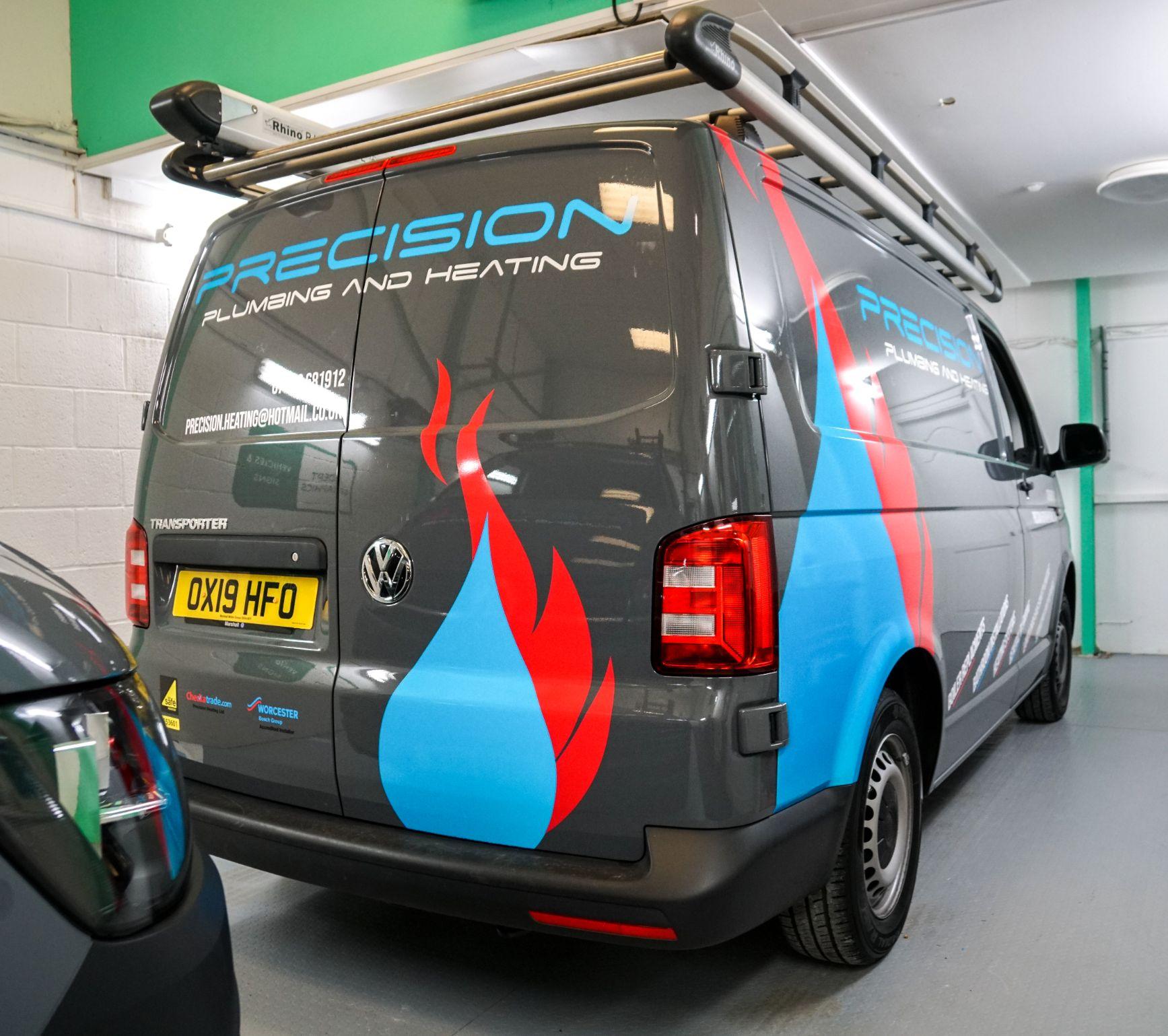 van with a fresh wrap