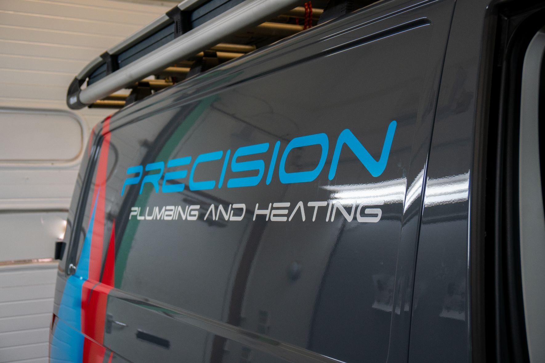 side logo on van